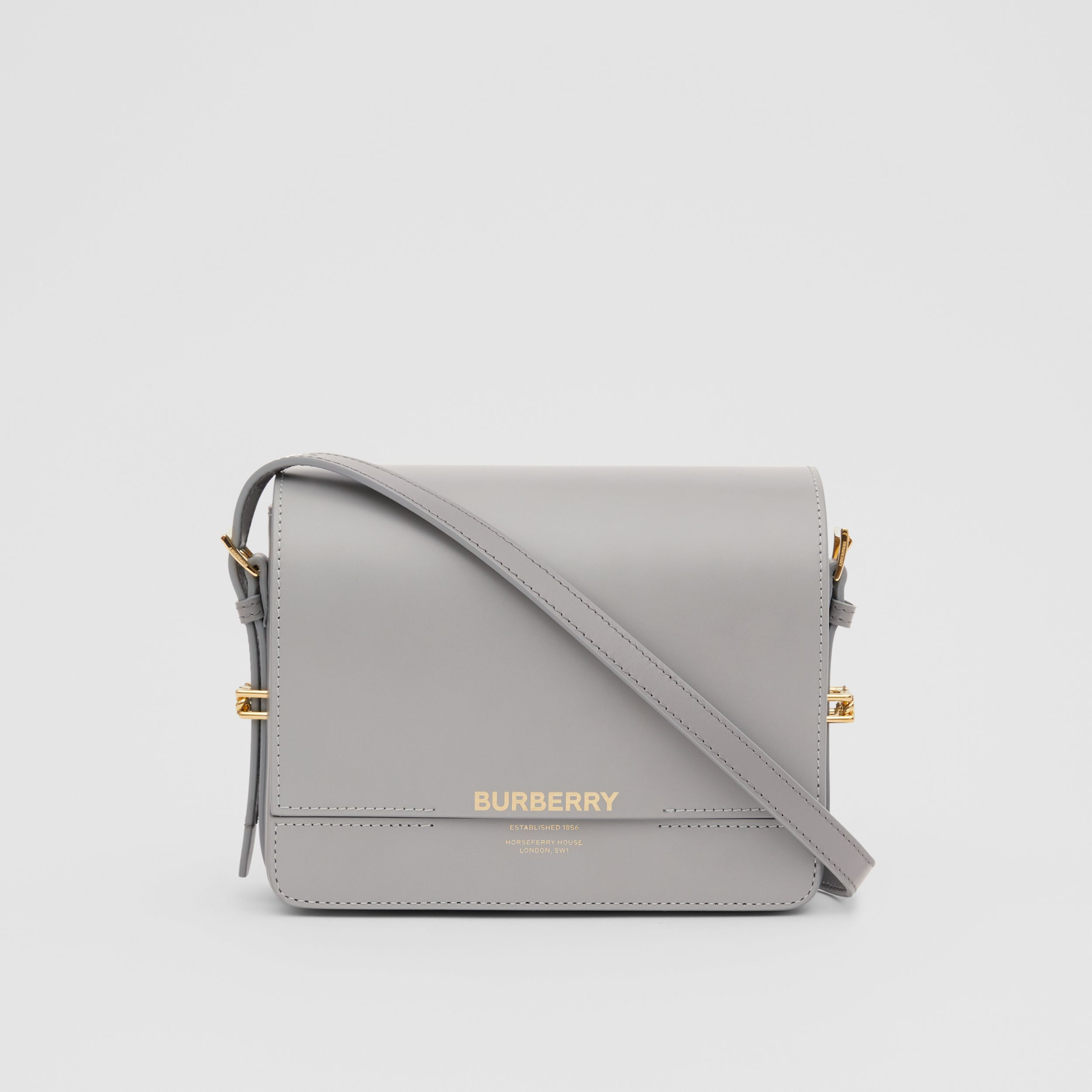 Small Two-tone Leather Grace Bag in Heather Grey/cloud Grey - Women | Burberry Hong Kong S.A.R. - 1
