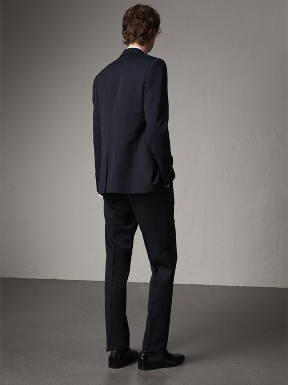 Modern Fit Virgin Wool Half-canvas Tuxedo in Navy - Men | Burberry Canada - cell image 2