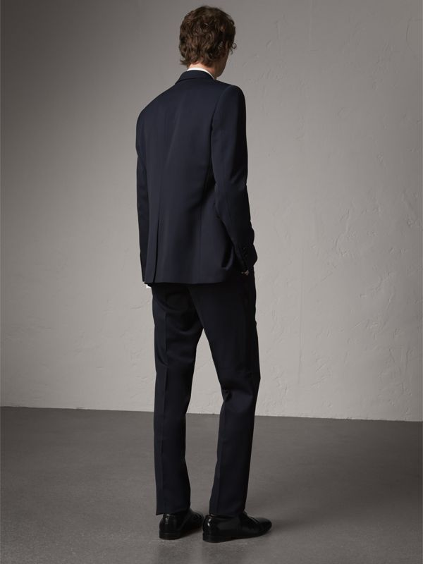 Modern Fit Virgin Wool Half-canvas Tuxedo in Navy - Men | Burberry - cell image 2