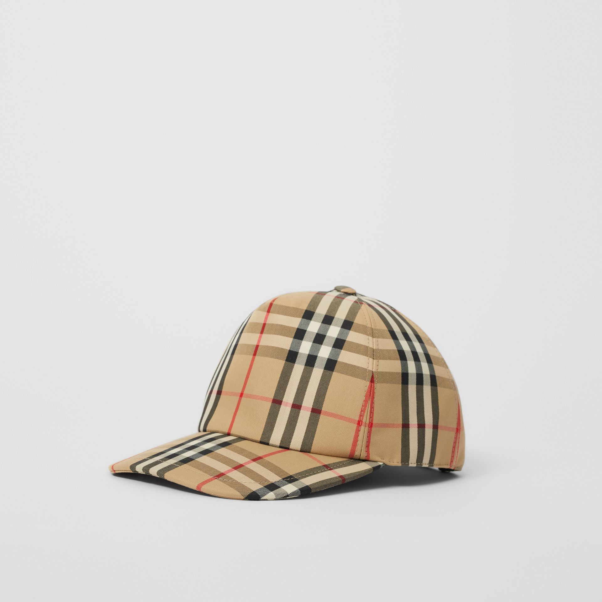 Logo Detail Vintage Check Baseball Cap in Archive Beige | Burberry - gallery image 3