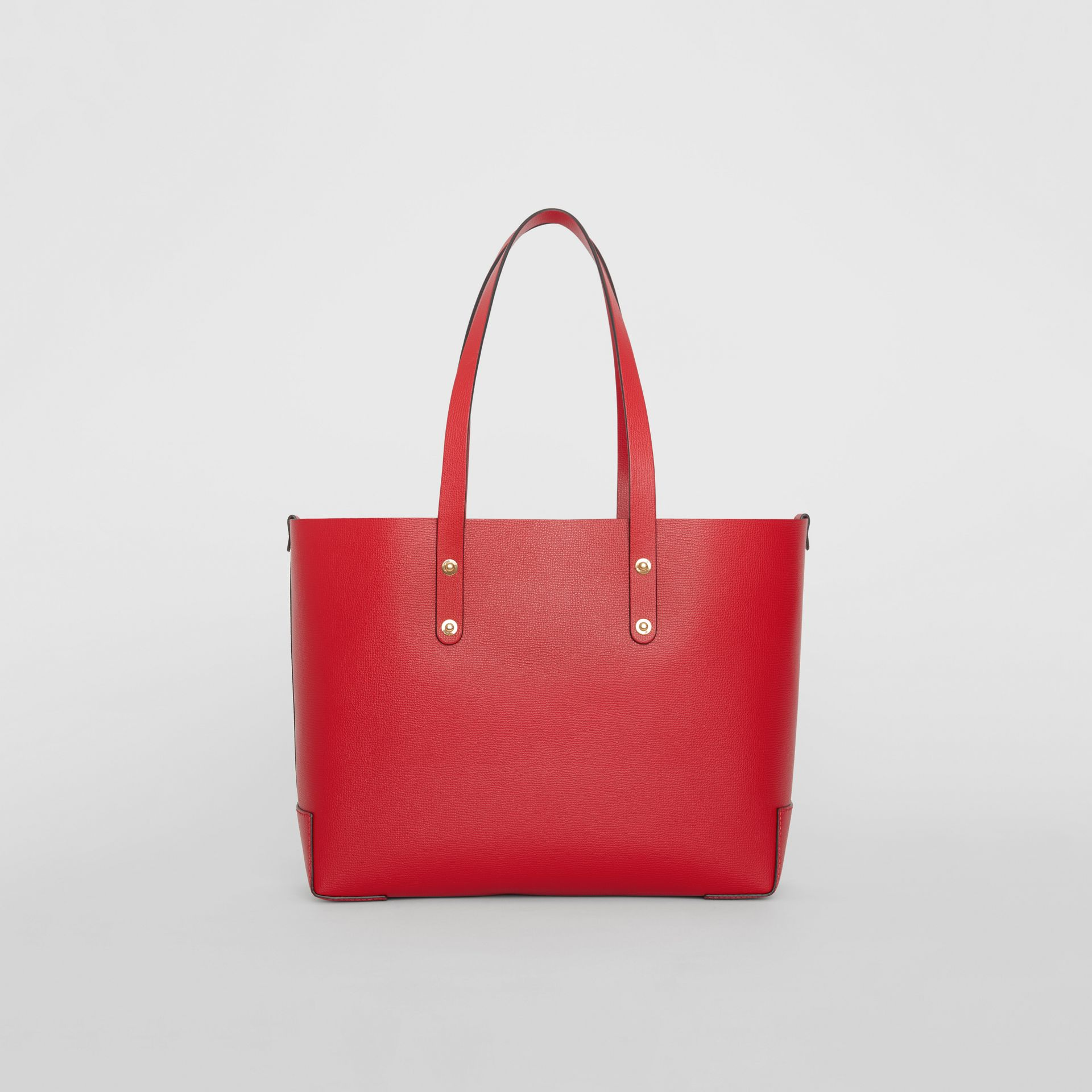 Small Embossed Crest Leather Tote in Rust Red - Women | Burberry Australia - gallery image 7