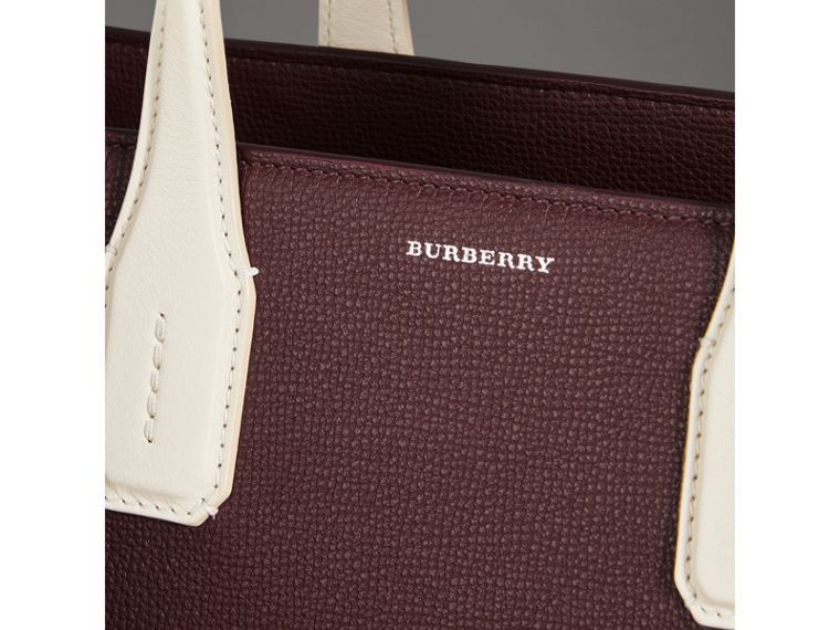 The Medium Banner in Two-tone Leather in Mahogany Red/limestone - Women | Burberry Hong Kong - cell image 1