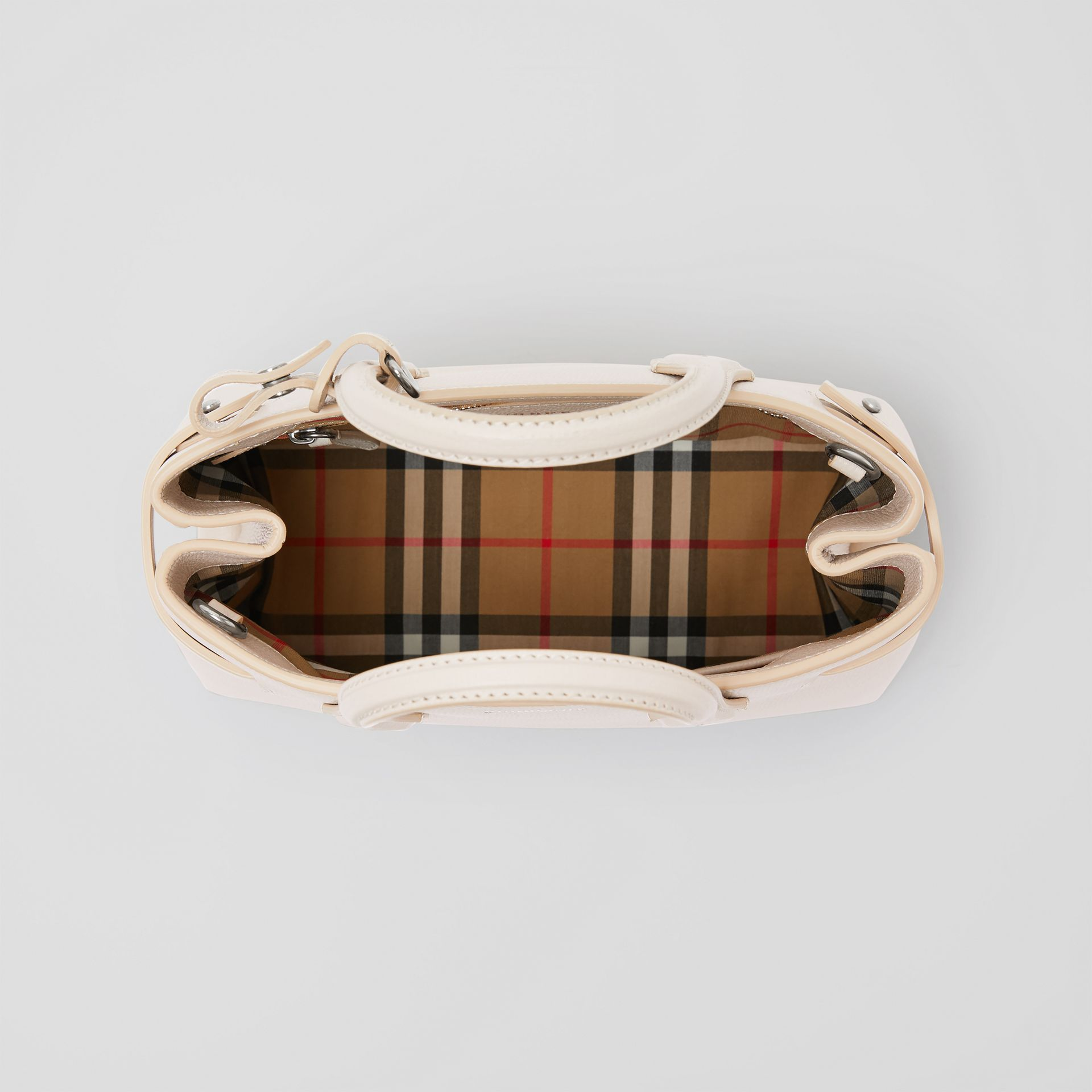 The Small Banner in Leather and Vintage Check in Limestone - Women | Burberry United Kingdom - gallery image 5