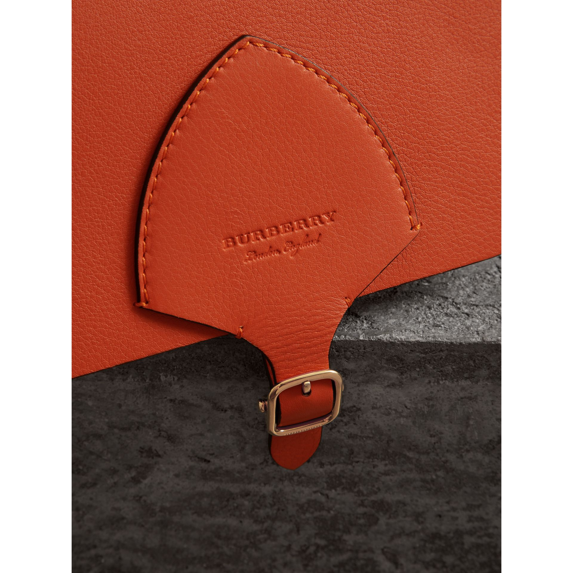 The Square Satchel in Leather in Clementine - Women | Burberry United States - gallery image 1