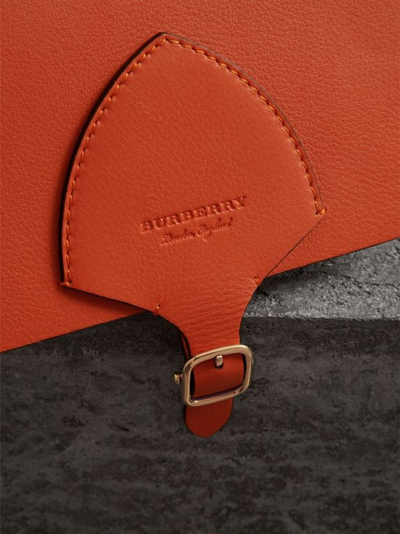 The Square Satchel in Leather in Clementine - Women | Burberry Australia - cell image 1