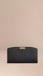 Signature Grain Leather Ziparound Wallet
