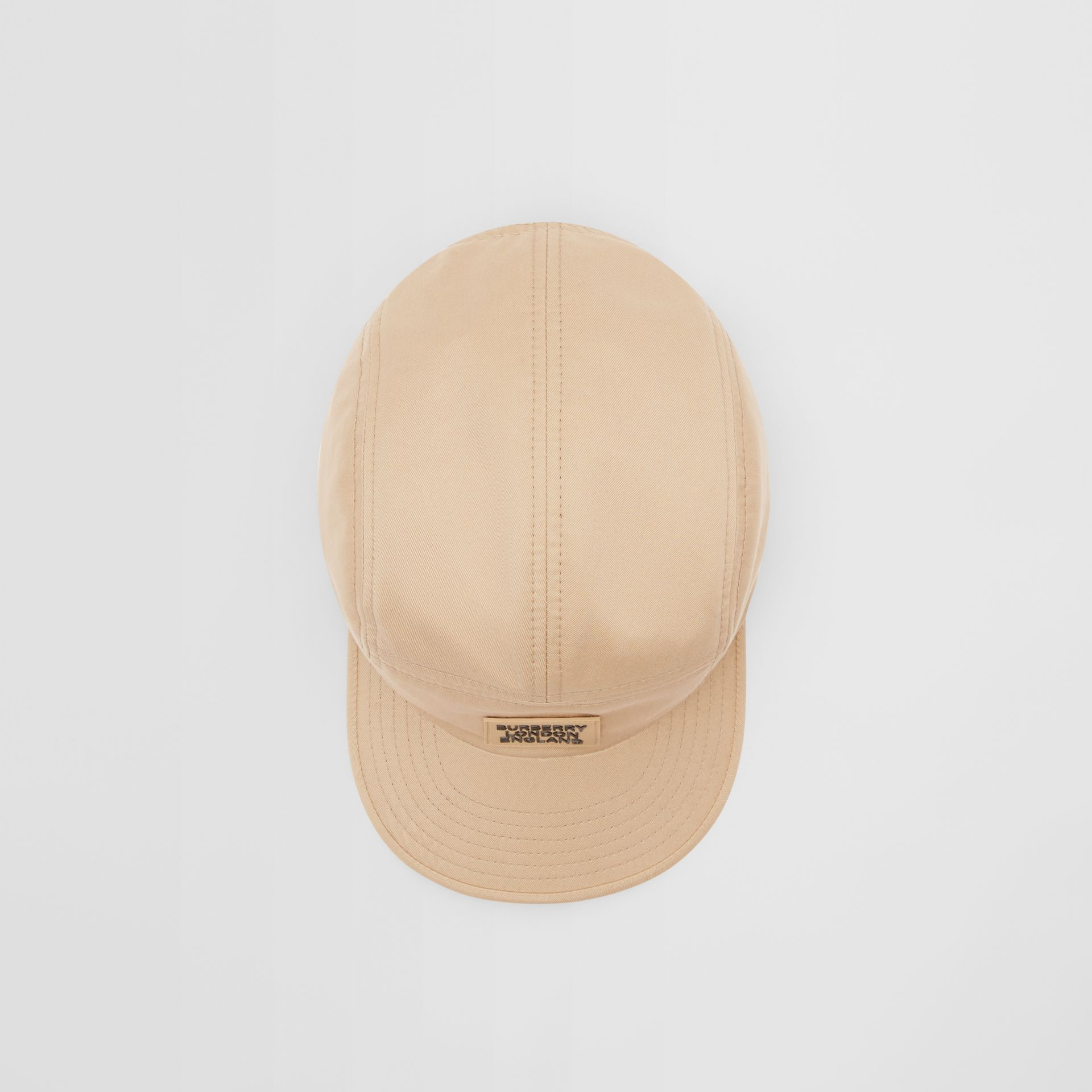 Logo Appliqué Cotton Twill Cap in Soft Fawn | Burberry - gallery image 4