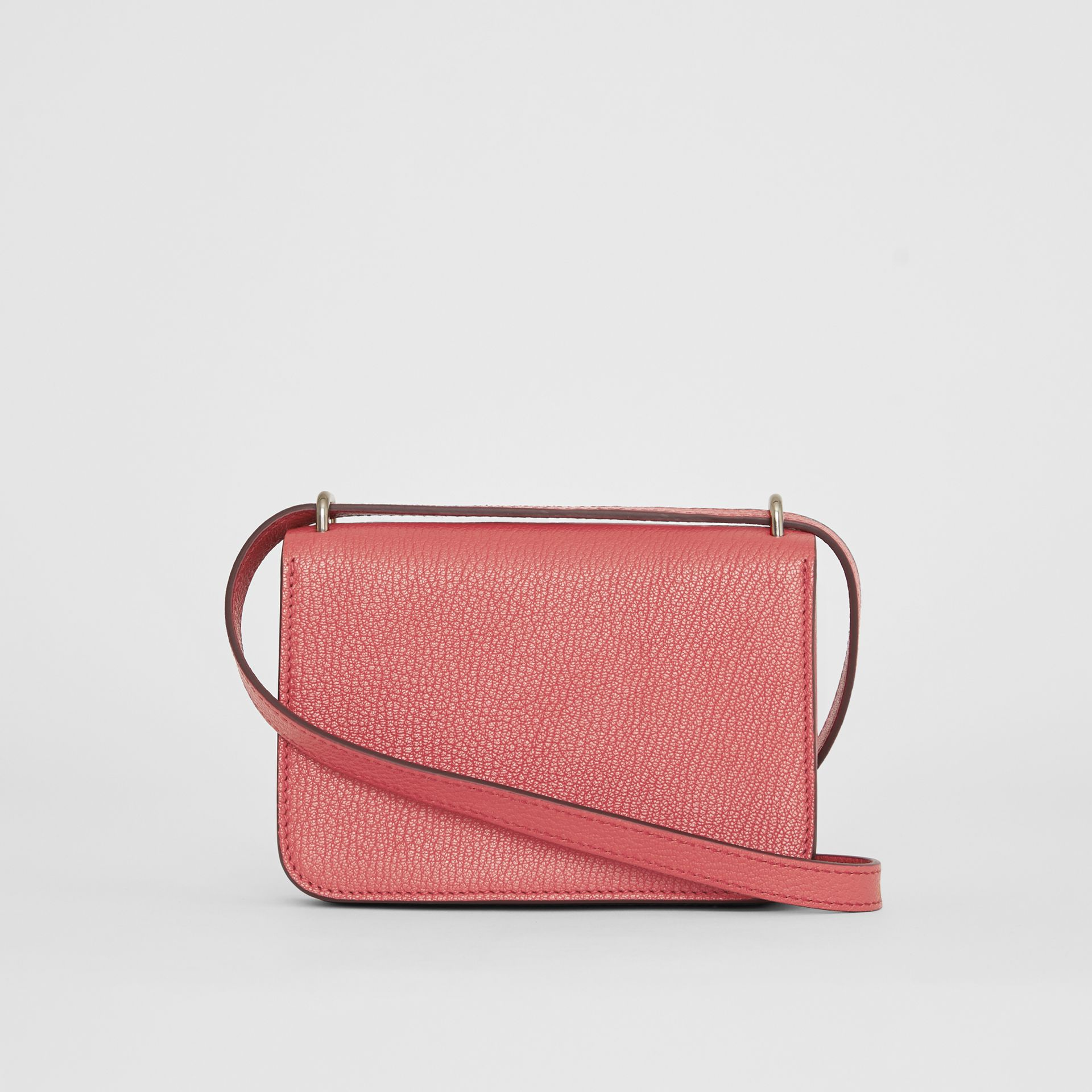 The Mini Leather D-ring Bag in Bright Coral Pink - Women | Burberry - gallery image 7