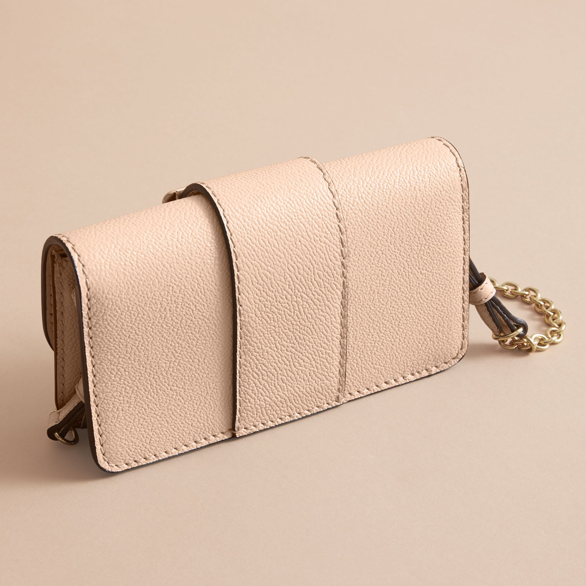 The Mini Buckle Bag in Grainy Leather in Limestone - Women | Burberry - gallery image 5