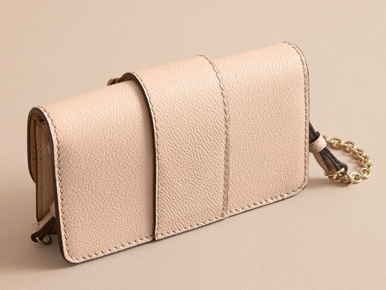 The Mini Buckle Bag in Grainy Leather in Limestone - Women | Burberry Australia - cell image 4