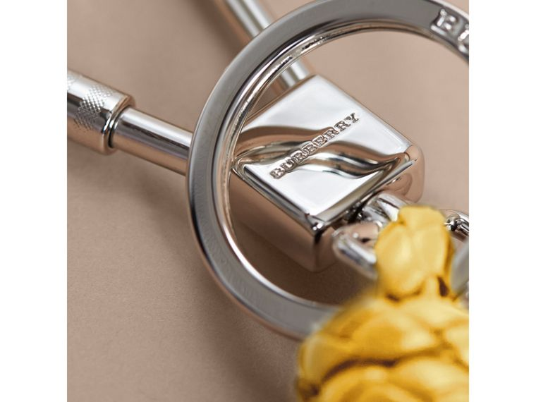 Braided Knot Leather Key Ring - cell image 1