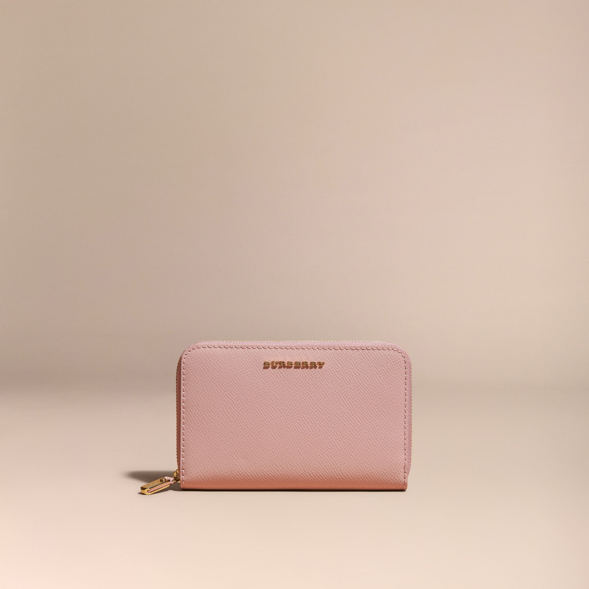 Patent London Leather Ziparound Wallet in Ash Rose - gallery image 6