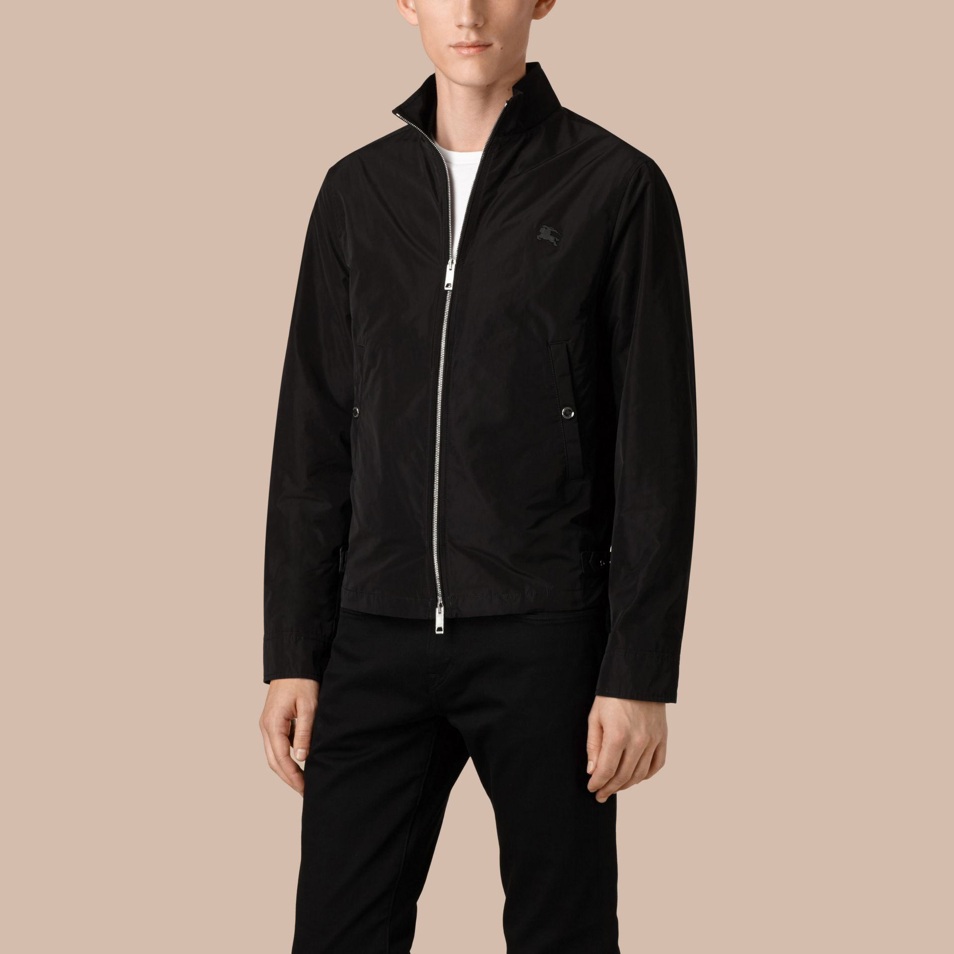Black Lightweight Technical Jacket Black - gallery image 4