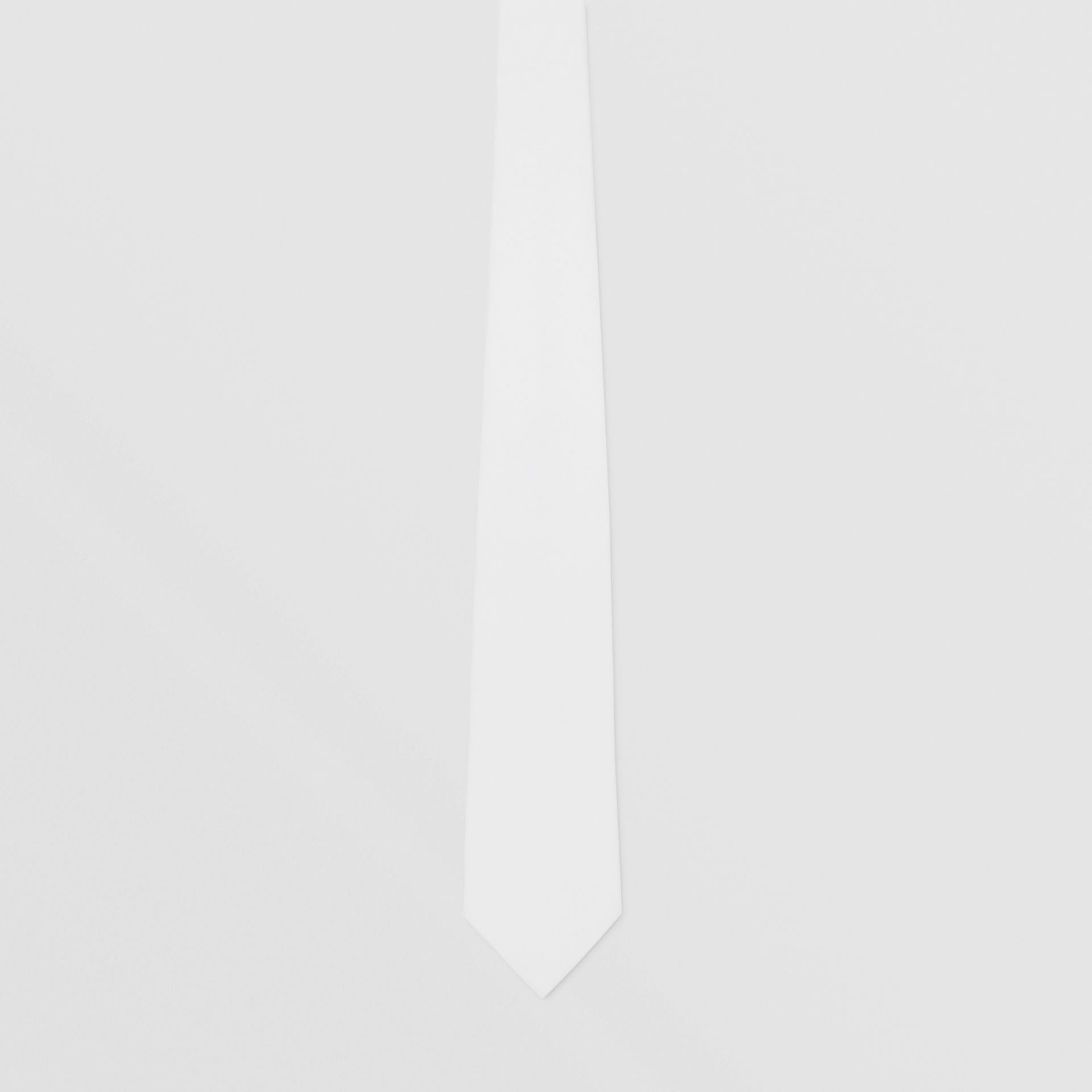 Classic Cut Cotton Tie in Optic White | Burberry - gallery image 3