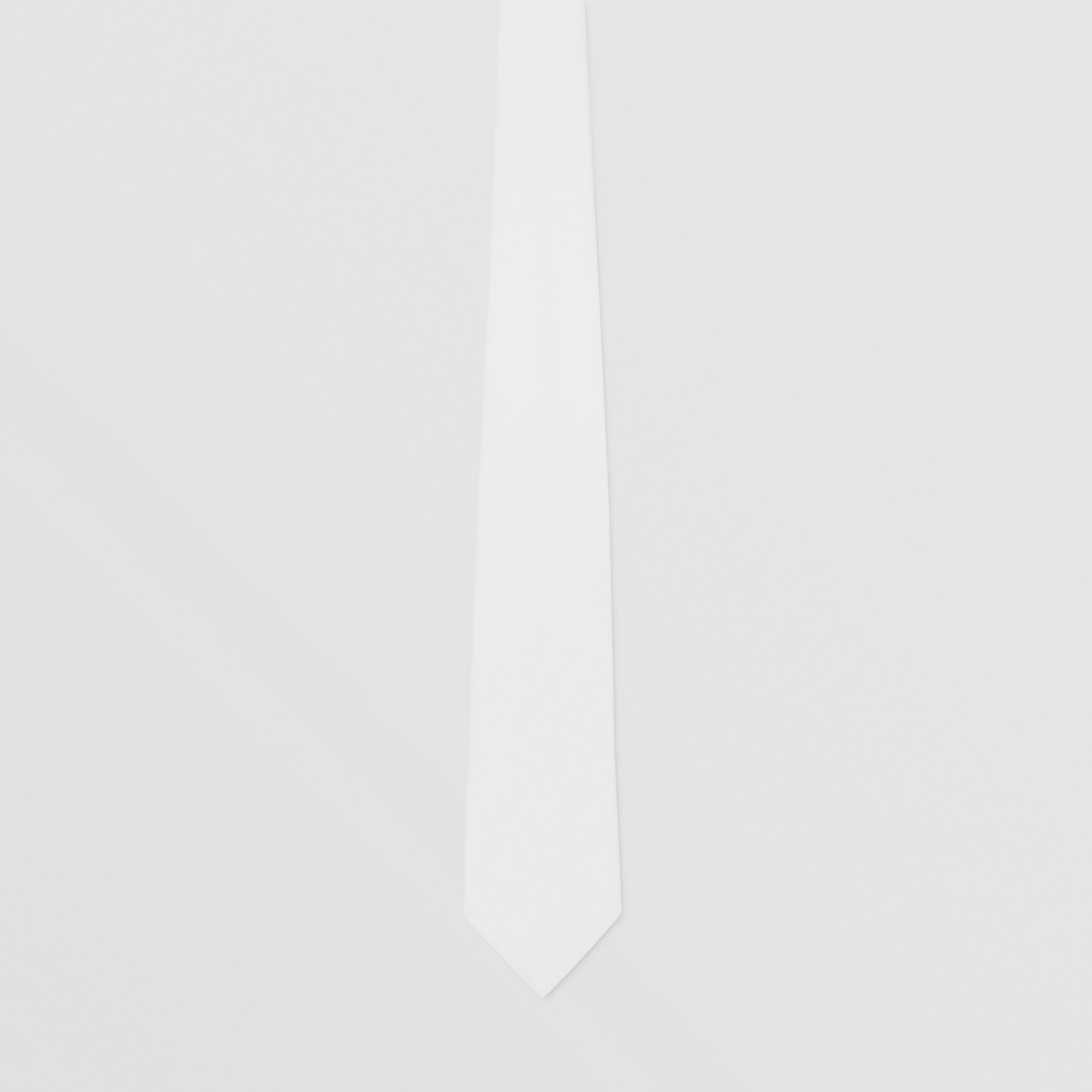 Classic Cut Cotton Tie in Optic White - Men | Burberry - 4