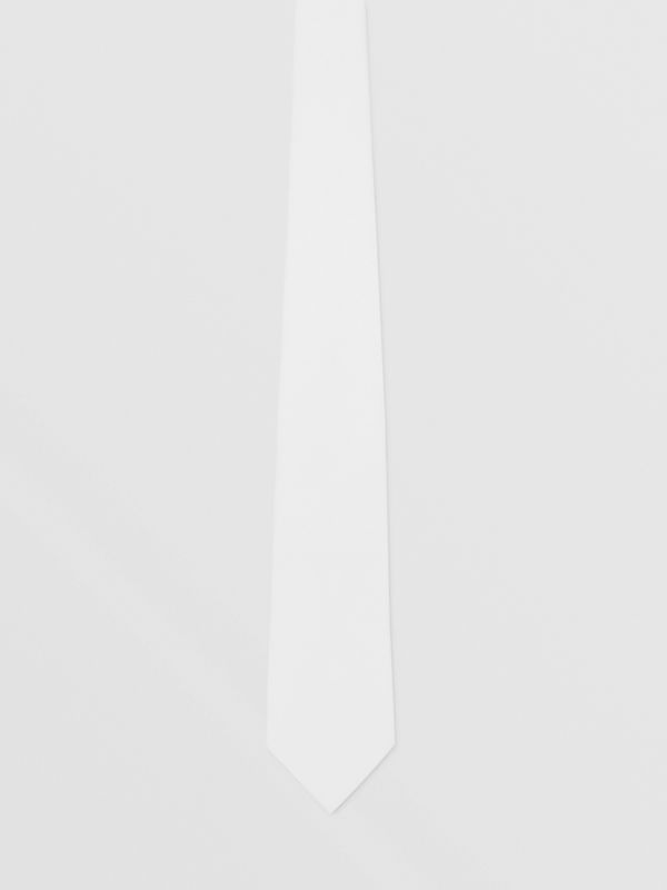 Classic Cut Cotton Tie in Optic White | Burberry - cell image 3