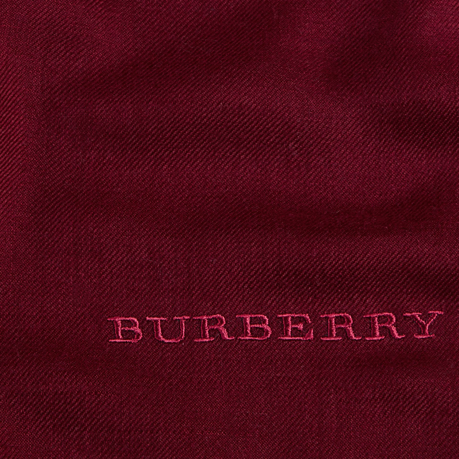 The Lightweight Cashmere Scarf in Plum | Burberry Canada - gallery image 5