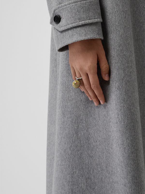 Marbled Resin Palladium-plated Ring in Palladio - Women | Burberry - cell image 2