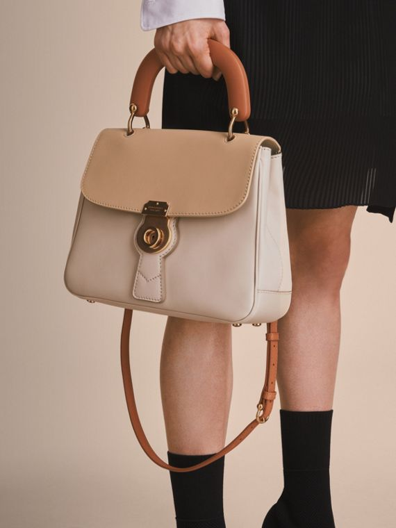 The Medium DK88 Top Handle Bag Limestone/honey - cell image 3