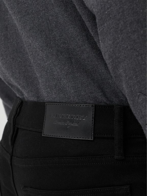 Straight Fit Stretch-denim Jeans in Black - Men | Burberry United States - cell image 1