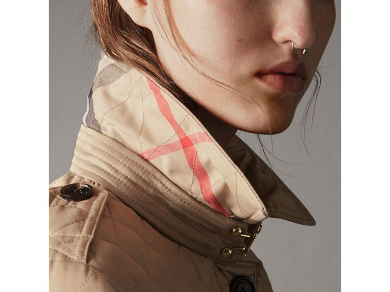 Diamond Quilted Jacket in Canvas - Women | Burberry Singapore - cell image 1