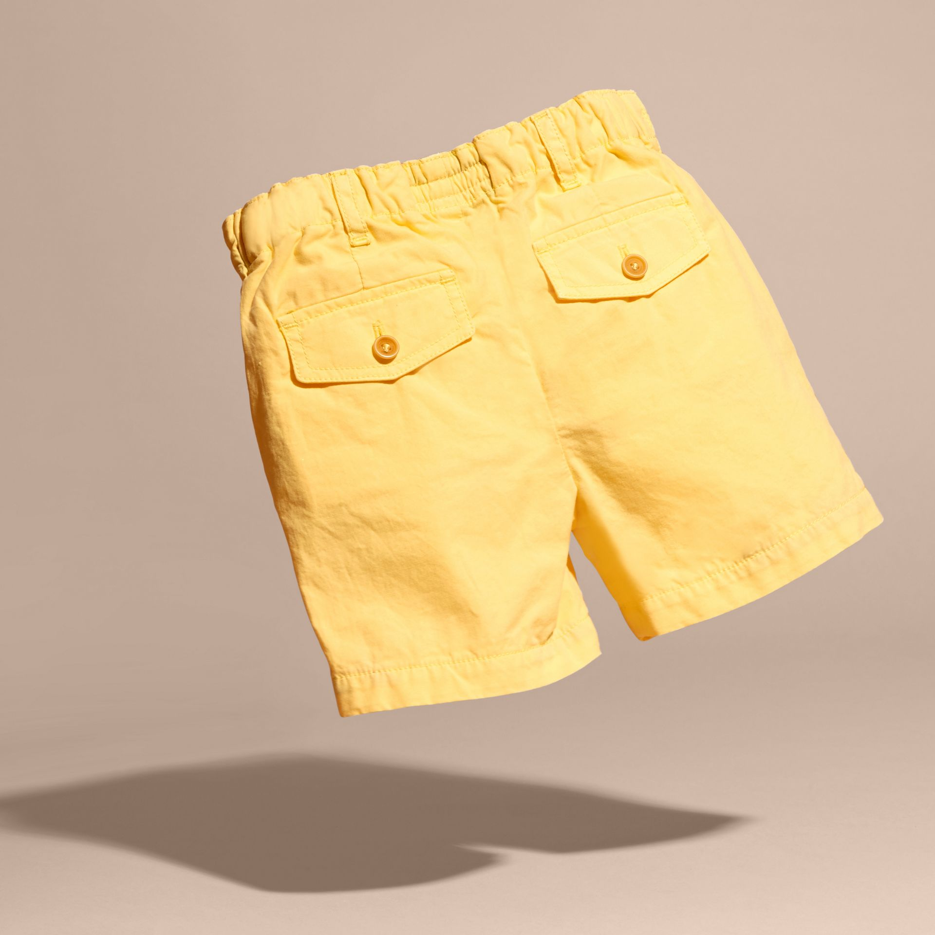 Cotton Military Chino Shorts in Bright Yellow | Burberry - gallery image 4