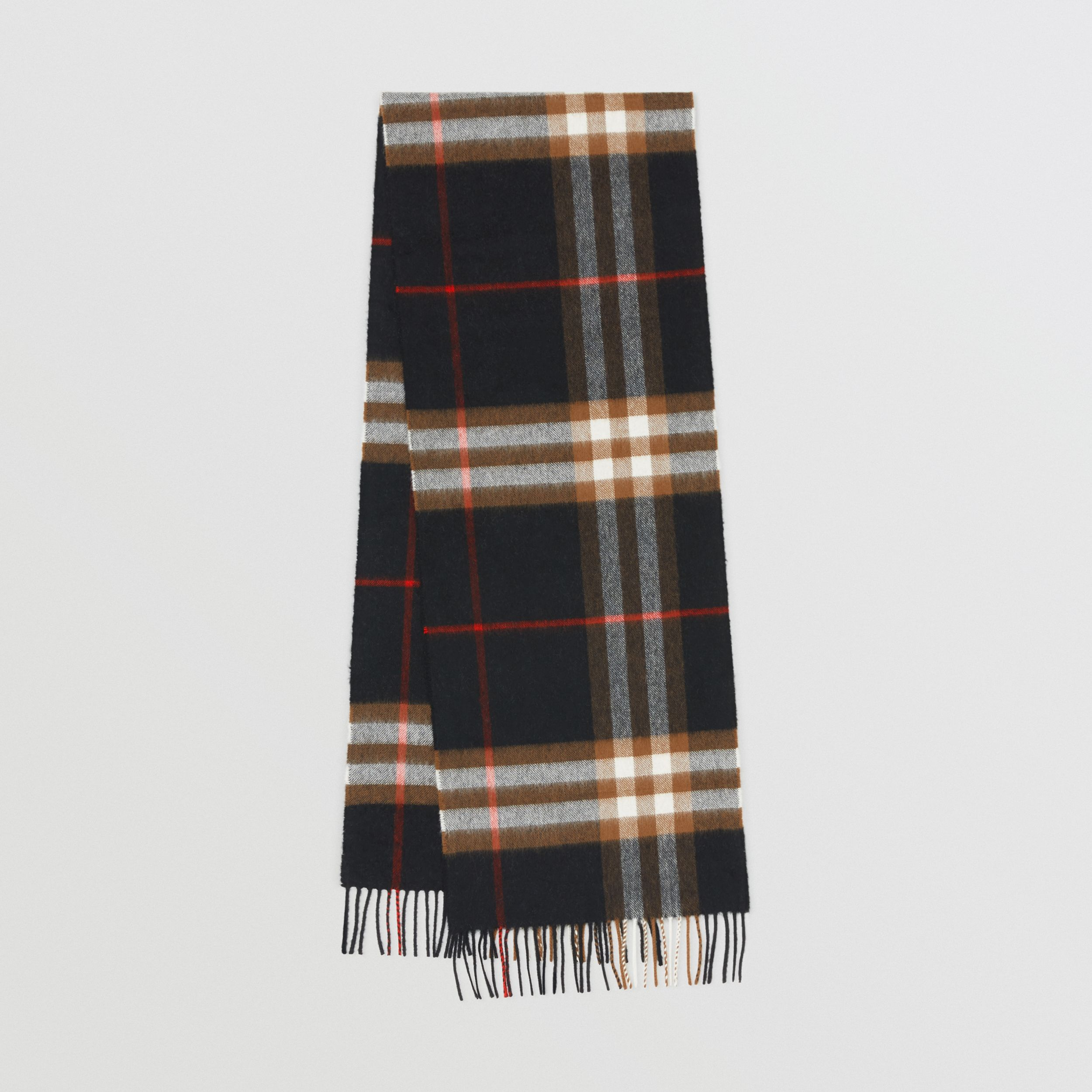 The Classic Check Cashmere Scarf in Black/brown | Burberry Hong Kong S.A.R - 1