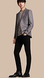 Slim Fit Wool Silk Linen Jacket