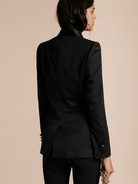 Stretch Wool Tuxedo Jacket - cell image 2