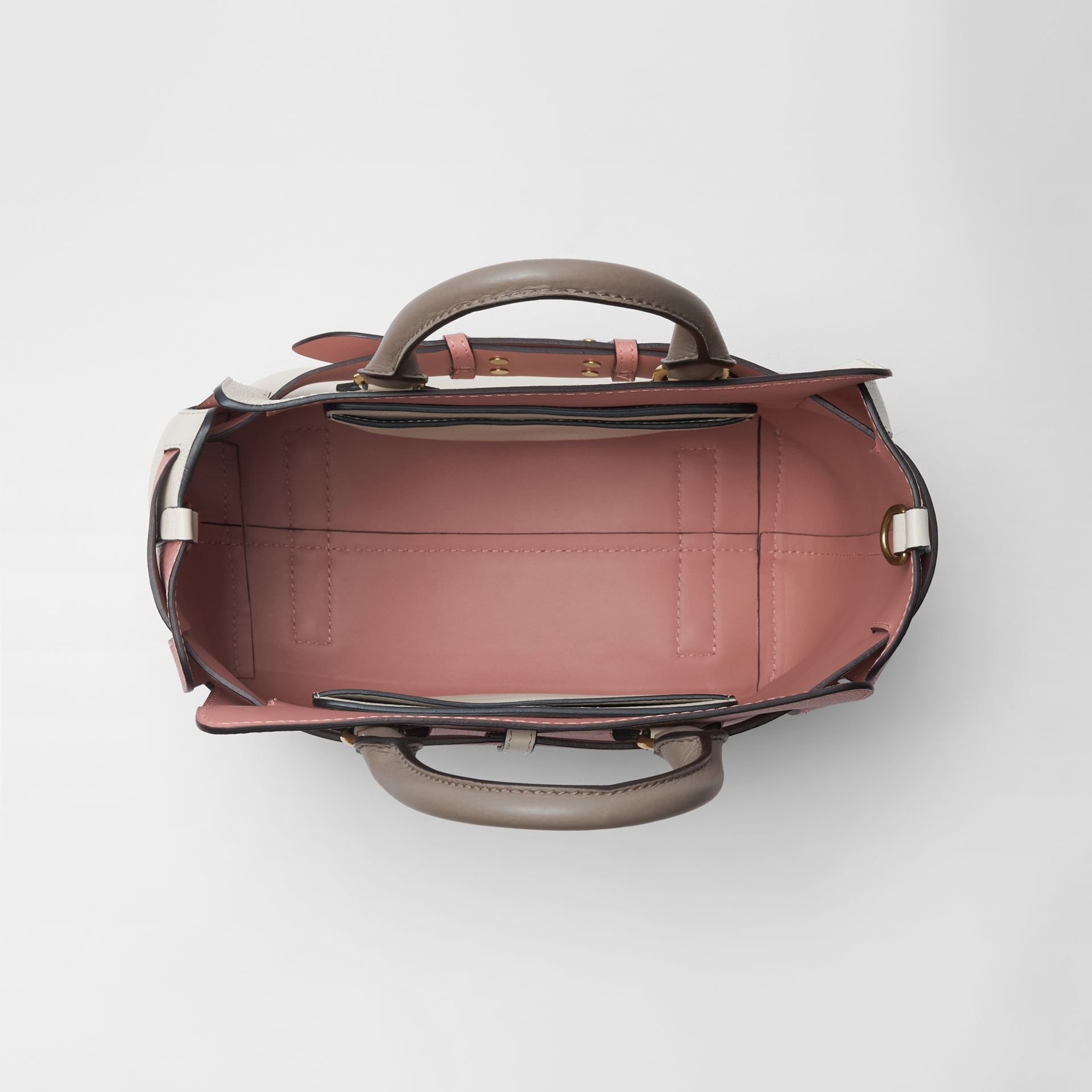 The Small Tri-tone Leather Belt Bag in Limestone/dusty Rose - Women | Burberry Singapore - gallery image 5