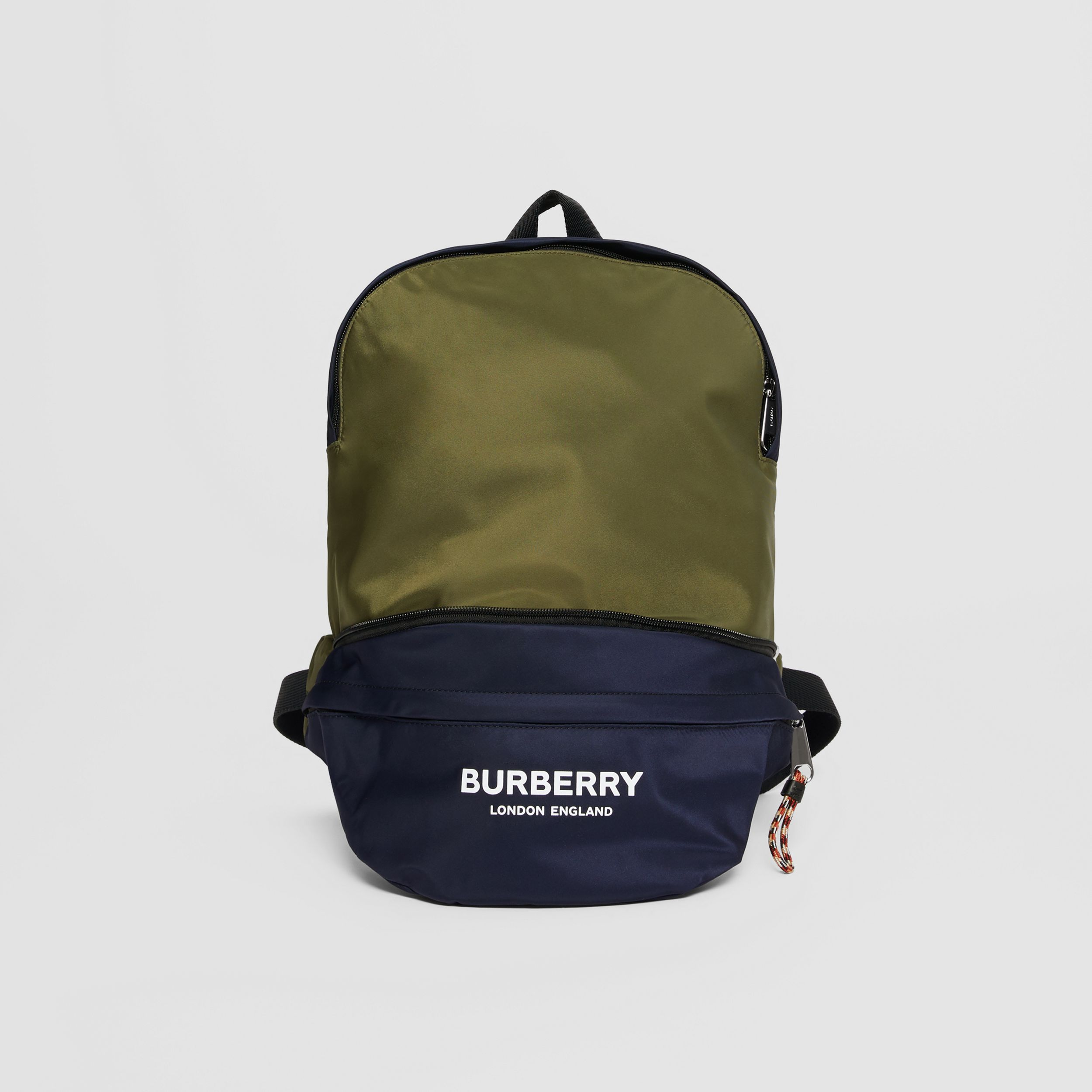 Logo Print Two-tone Convertible Bum Bag in Regency Blue | Burberry - 1