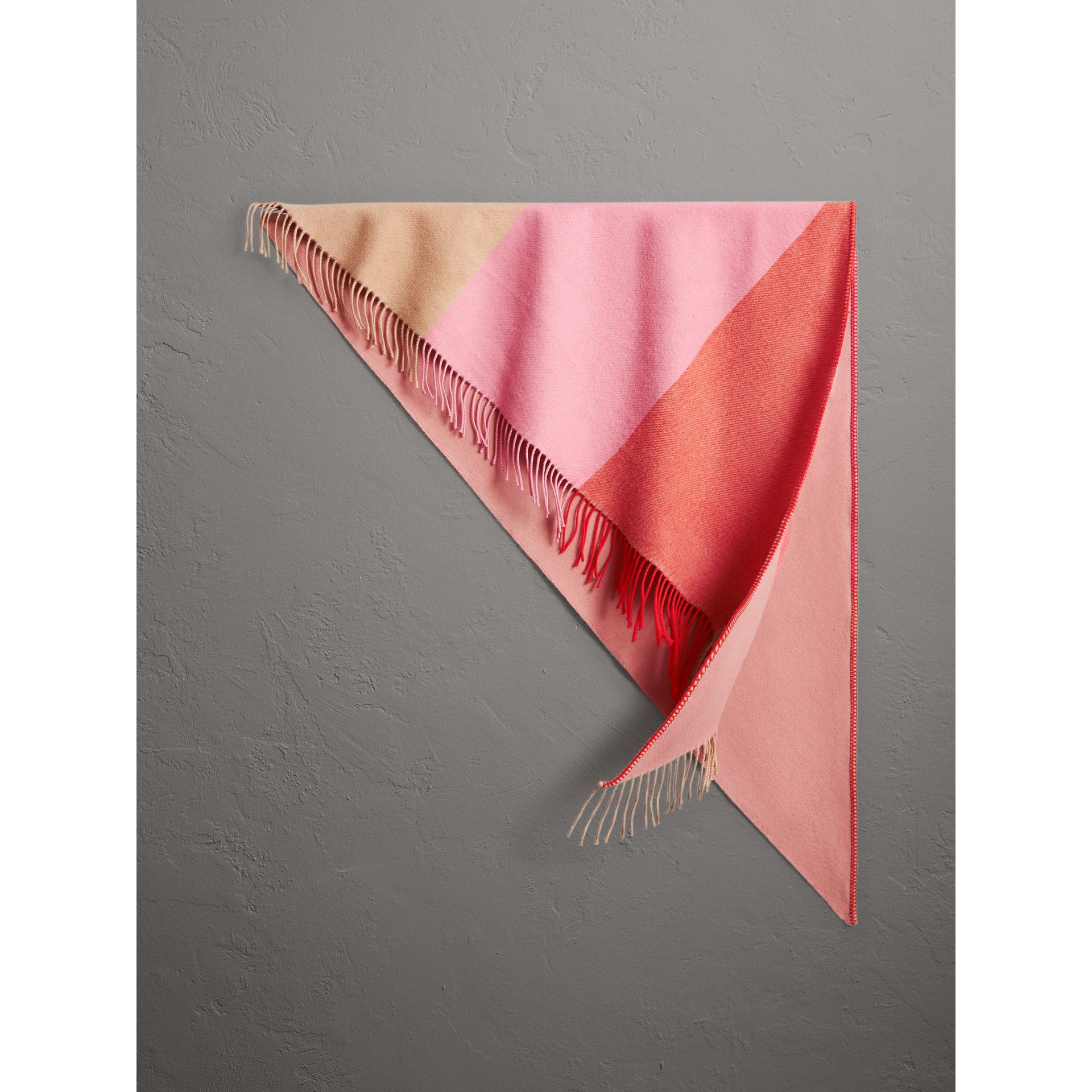 The Burberry Bandana in Striped Cashmere in Rose Pink | Burberry - gallery image 0
