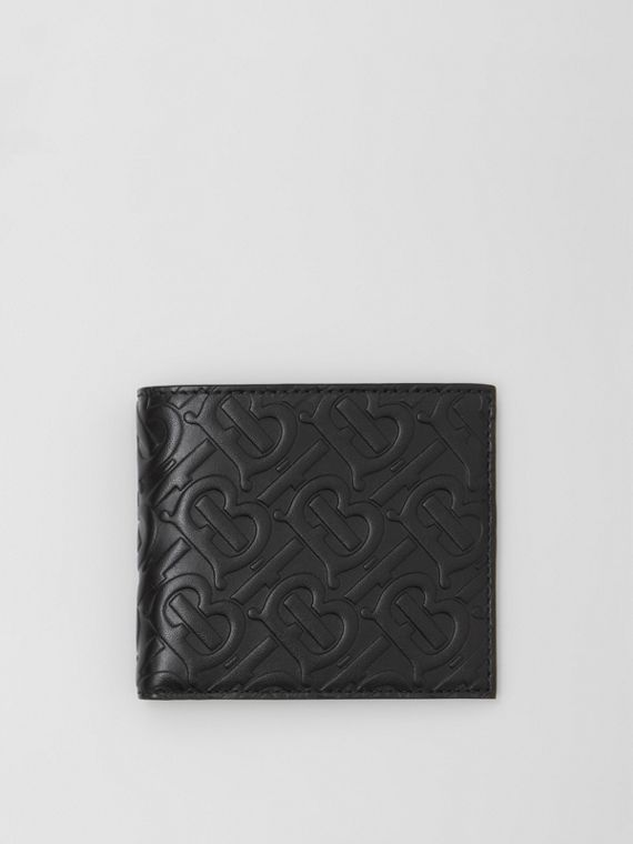 Monogram Leather International Bifold Wallet in Black
