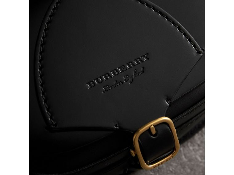 The Satchel in Bridle Leather in Black - Women | Burberry Australia - cell image 1