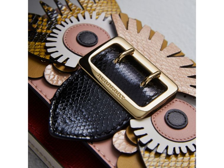 The Mini Buckle Bag aus Leder und Natternleder mit Burberry Beasts-Motiv (Aschrosa) - Damen | Burberry - cell image 1