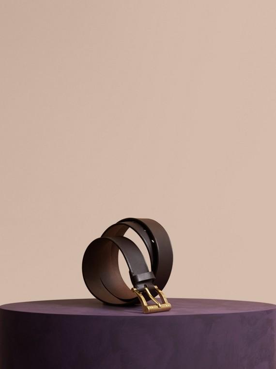 Bridle Leather Belt Dark Clove Brown