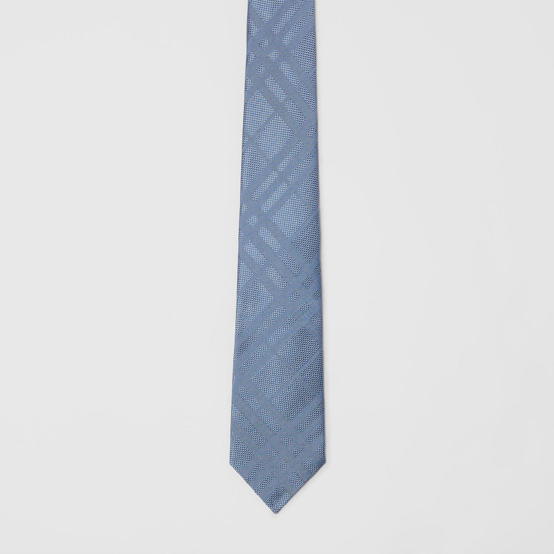 Modern Cut Check Silk Tie in Sky Blue - Men | Burberry Australia - gallery image 3