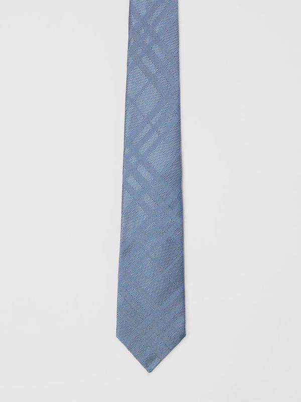 Modern Cut Check Silk Tie in Sky Blue - Men | Burberry - cell image 3