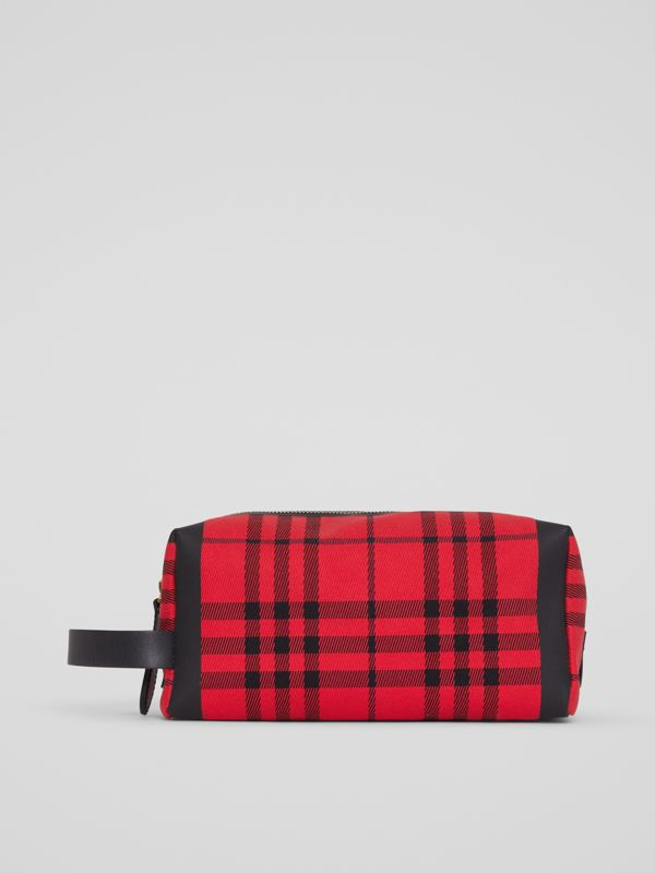 Tartan Cotton Pouch in Military Red | Burberry - cell image 3