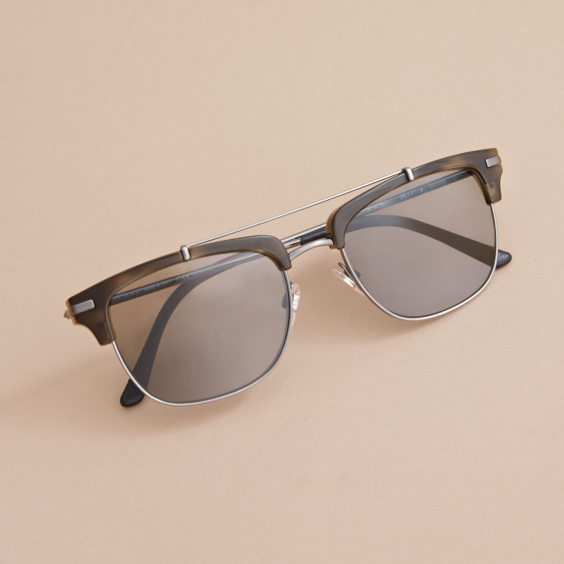 Square Frame Sunglasses in Grey - gallery image 3