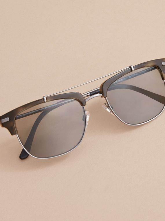 Square Frame Sunglasses in Grey - cell image 2