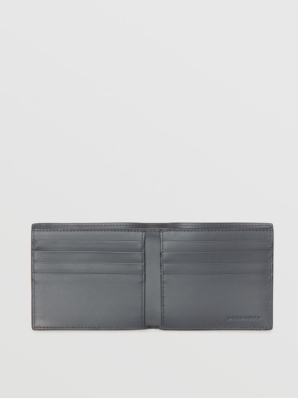 Small Scale Check International Bifold Wallet in Antique Yellow/dark Grey - Men | Burberry - cell image 3