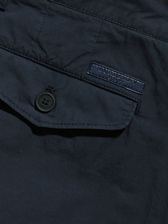 Slim Fit Cotton Poplin Chinos in Indigo - Men | Burberry United Kingdom - cell image 1