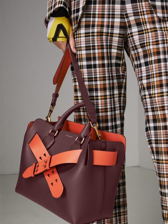 Petit sac TheBelt en cuir (Bordeaux Intense) - Femme   Burberry Canada - cell image 3