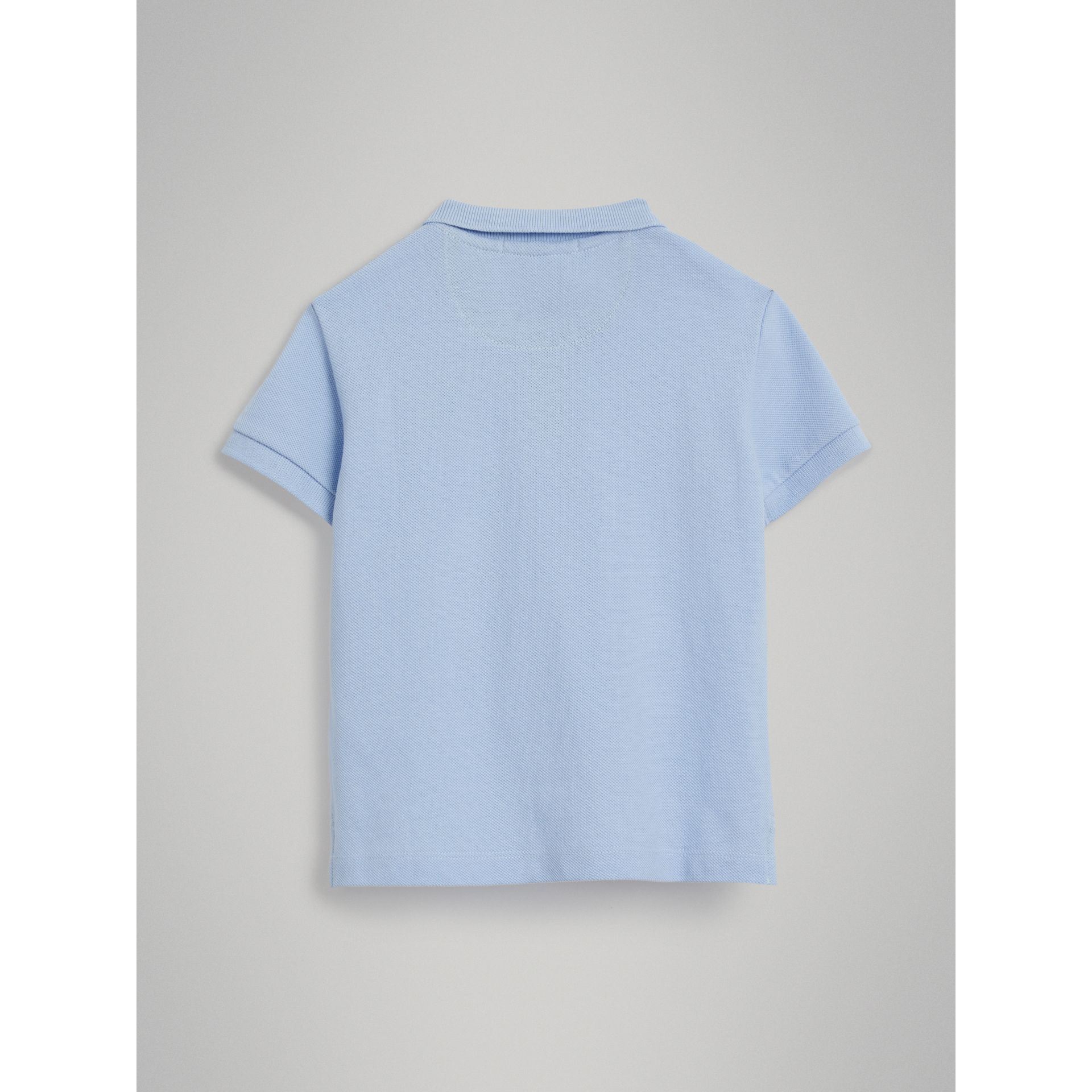Check Placket Polo Shirt in Sky Blue - Boy | Burberry - gallery image 3