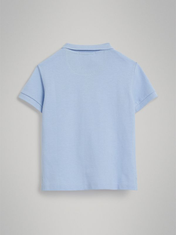 Check Placket Polo Shirt in Sky Blue - Boy | Burberry - cell image 3