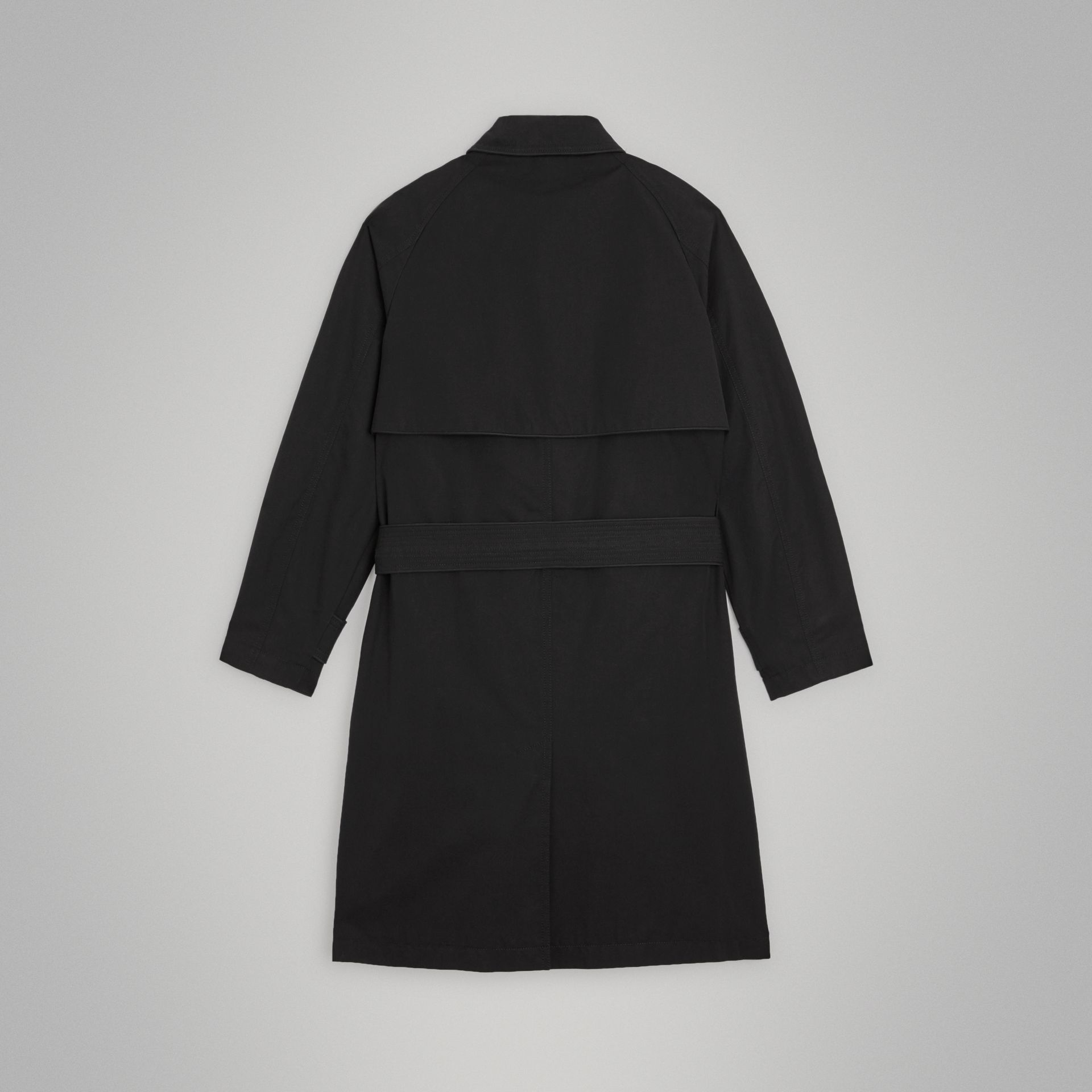 Piping Detail Tropical Gabardine Trench Coat in Black | Burberry United Kingdom - gallery image 3