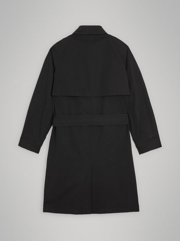 Piping Detail Tropical Gabardine Trench Coat in Black | Burberry Australia - cell image 3