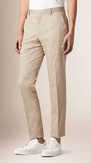 Modern Fit Cotton Trousers