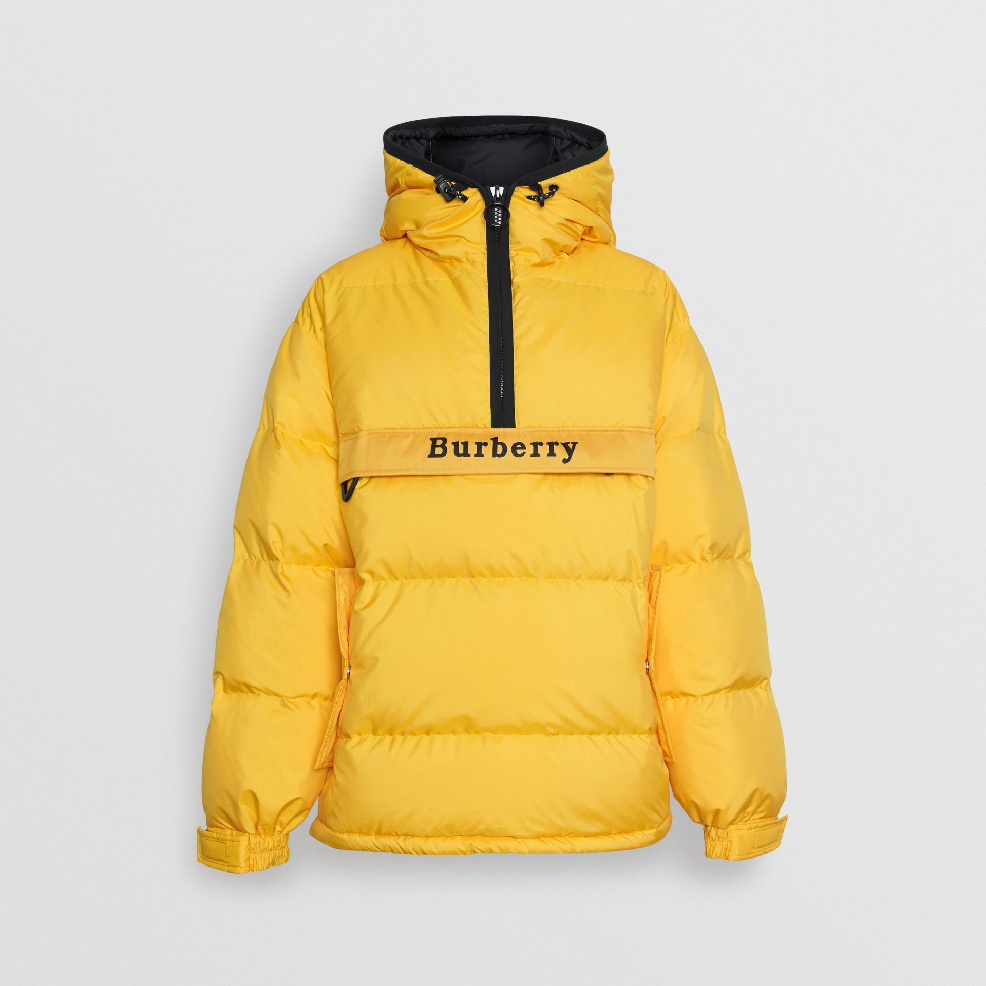 Down-filled Anorak with Detachable Mittens in Bright Yellow - Men | Burberry United Kingdom - gallery image 3
